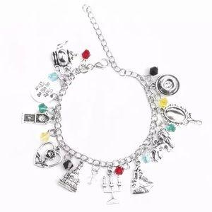 🕯 beauty and the beast handmade charm bracelet 🕯